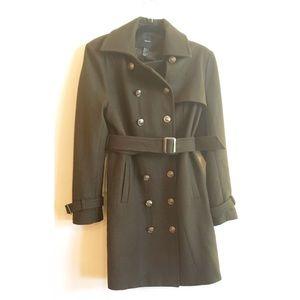 Forever 21 Women's Pea Coat Wool Green Size L